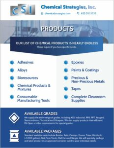 Chemical Product Catalog - Chemical Strategies, Inc.