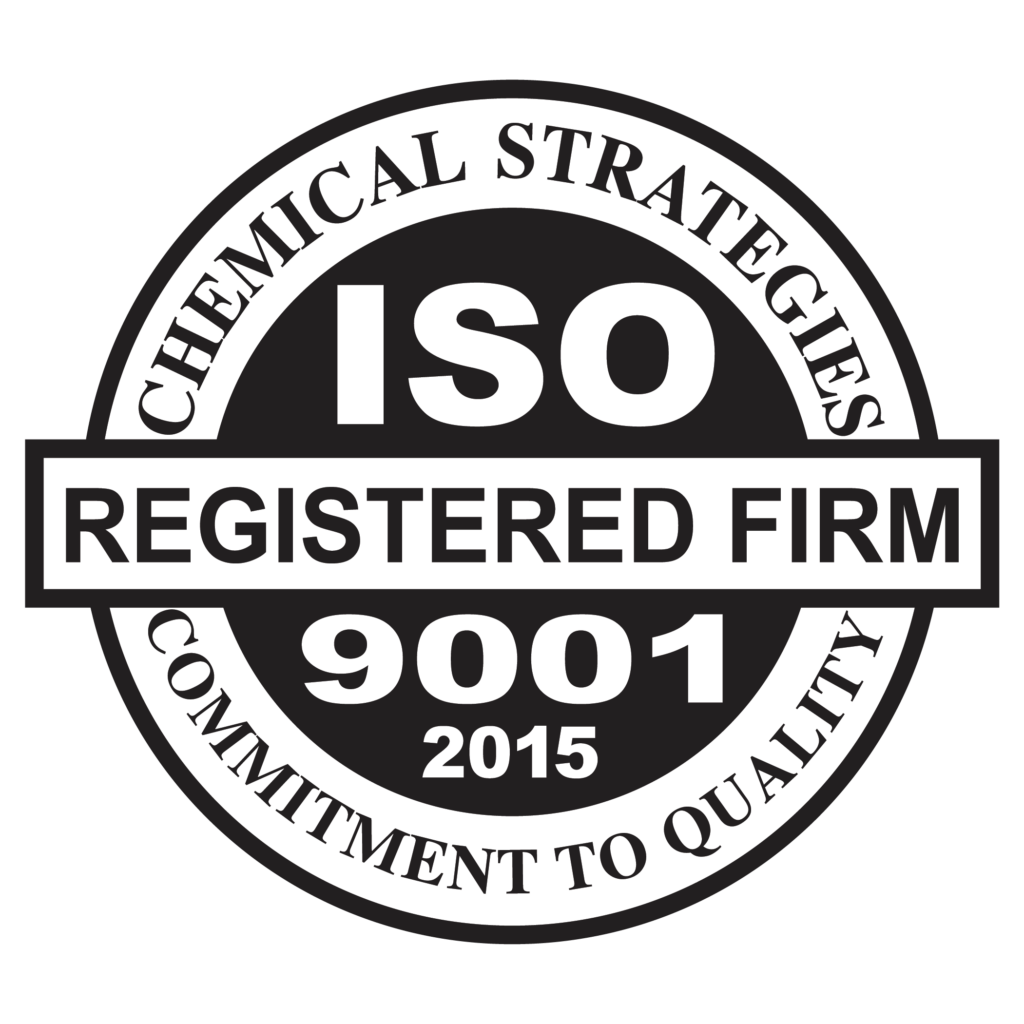 Chemical Strategies is a ISO9001:2015 registered company and aerospace supplier